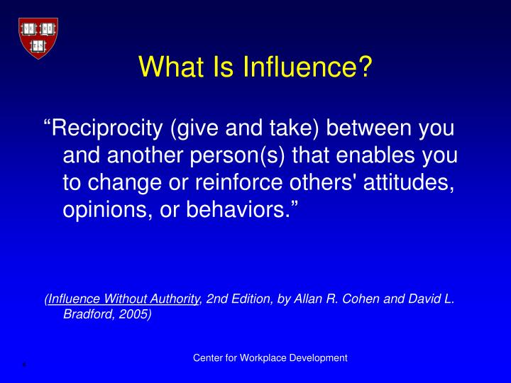 What Is Influence?