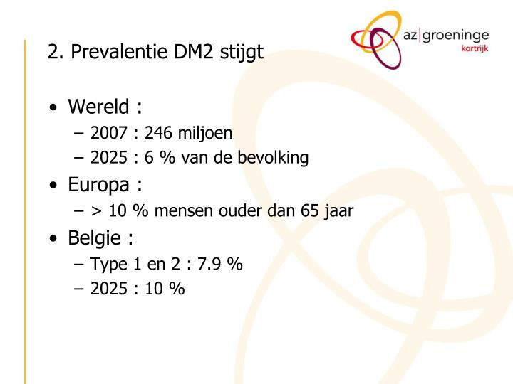 2. Prevalentie DM2 stijgt