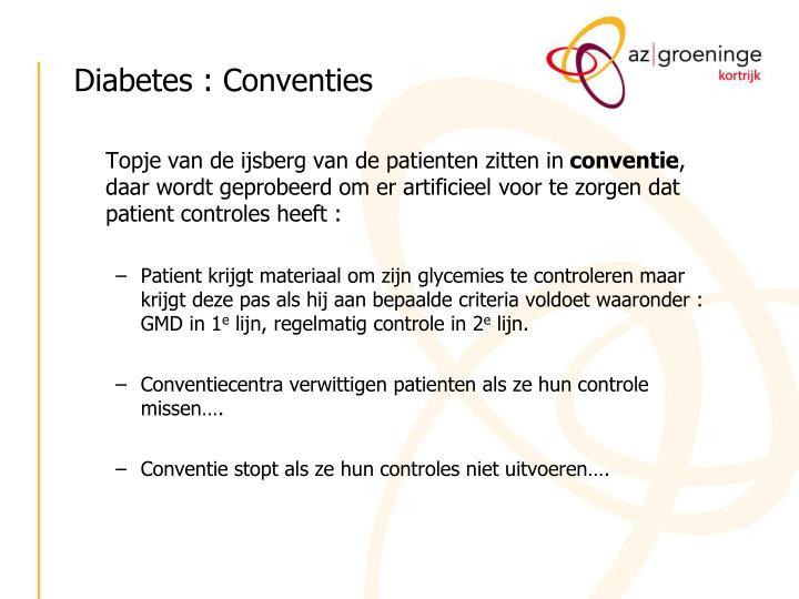 Diabetes : Conventies