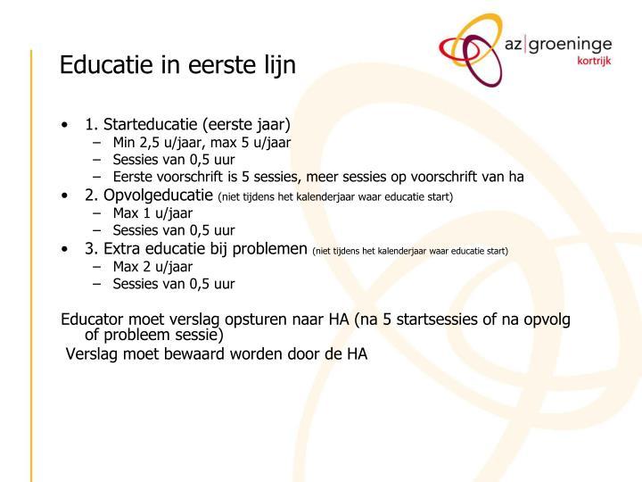 Educatie in eerste lijn