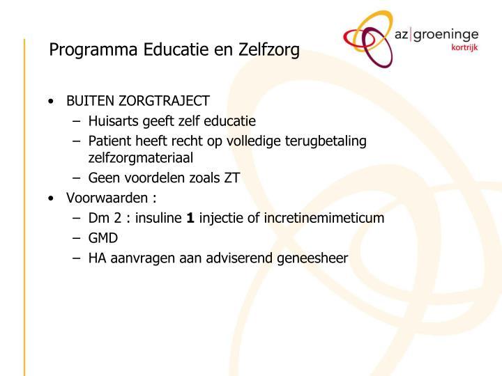Programma Educatie en Zelfzorg