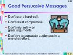 good persuasive messages