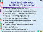 how to grab your audience s attention