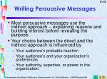 writing persuasive messages1