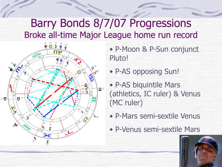 Barry Bonds 8/7/07 Progressions