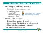 introducing university of pretoria