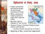 upheaval in italy 1848