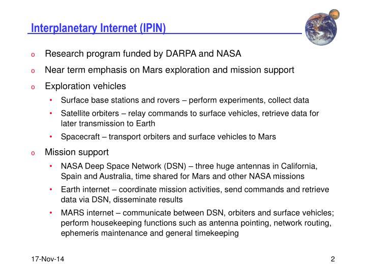 Interplanetary internet ipin