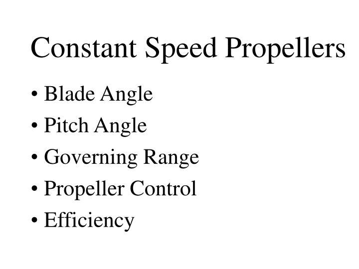 Constant Speed Propellers