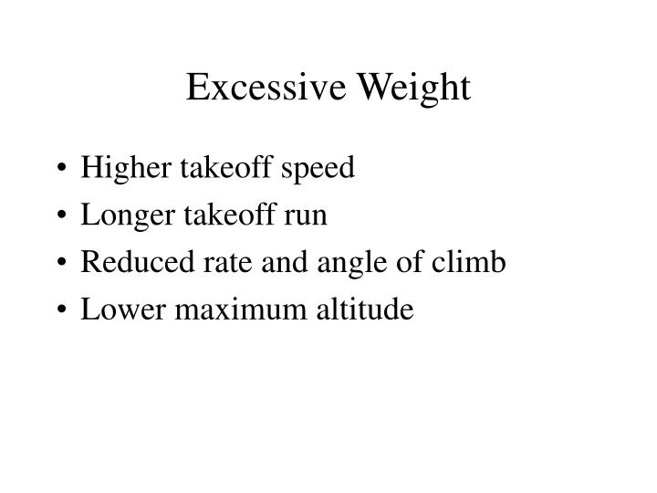 Excessive Weight