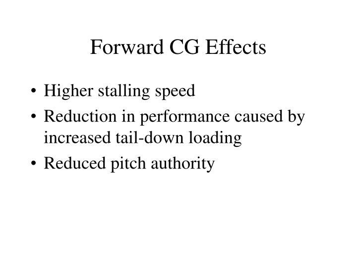 Forward CG Effects