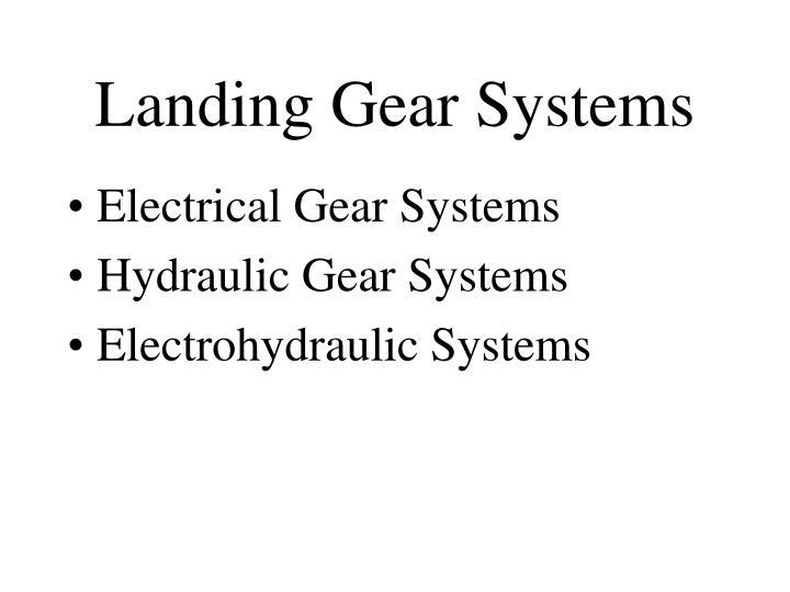 Landing Gear Systems