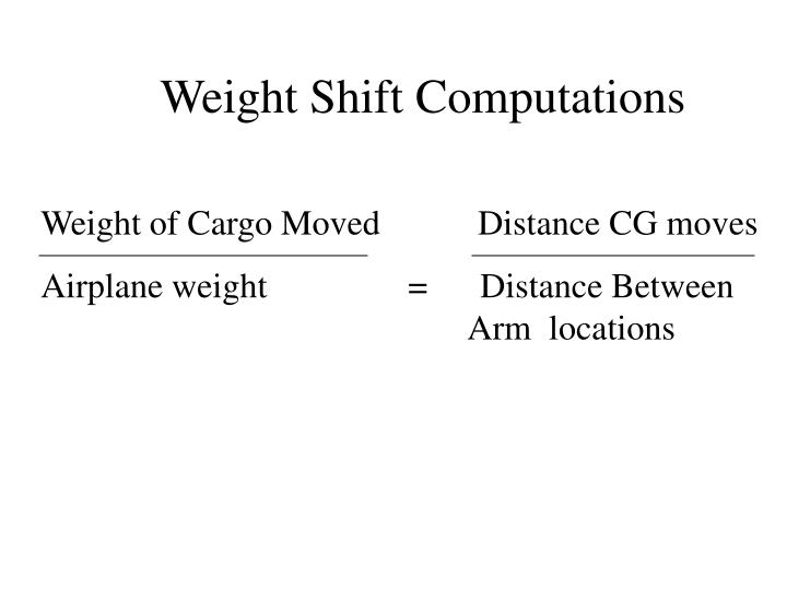 Weight Shift Computations