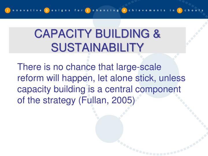CAPACITY BUILDING & SUSTAINABILITY