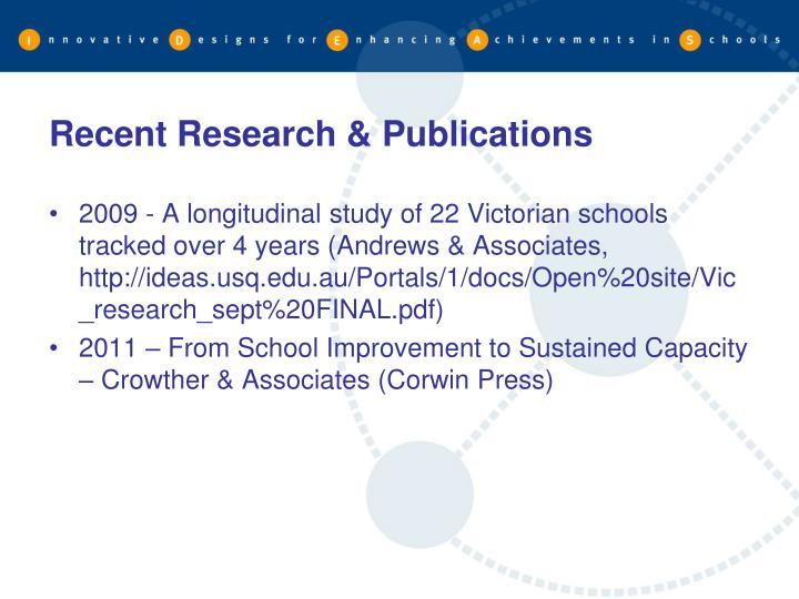 Recent Research & Publications