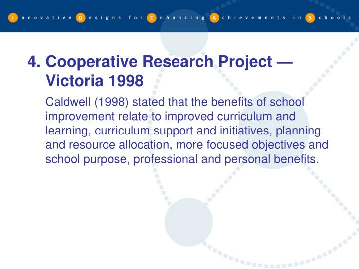 Cooperative Research Project