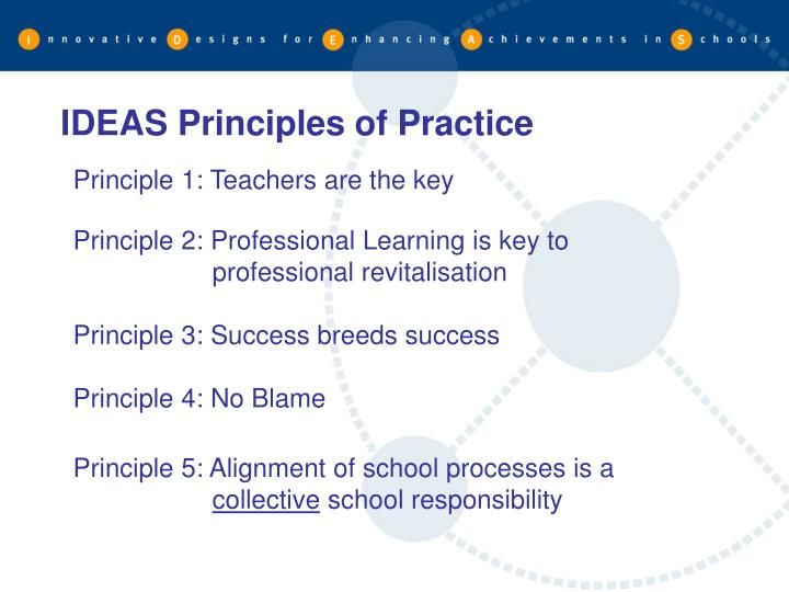 IDEAS Principles of Practice