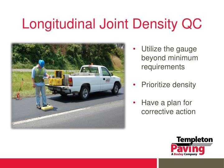Longitudinal Joint Density QC