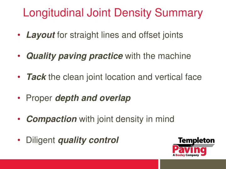 Longitudinal Joint Density Summary