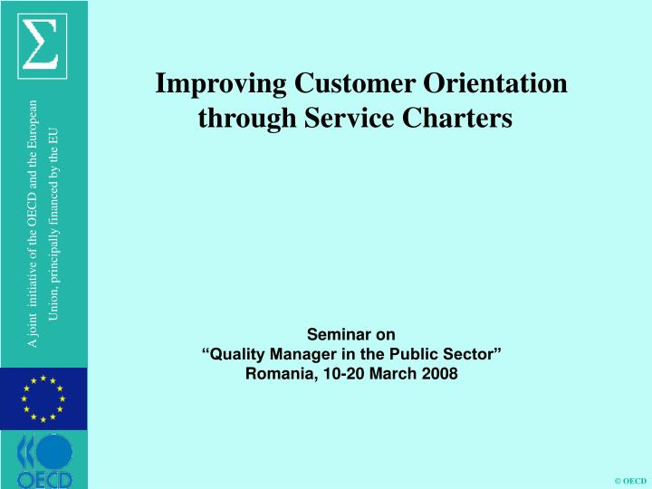 Improving Customer Orientation through