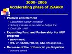 2000 2006 accelerating phase of isaarv