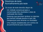 directrizes de teste aconselhamento p s teste