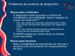problemas da aus ncia de diagn stico