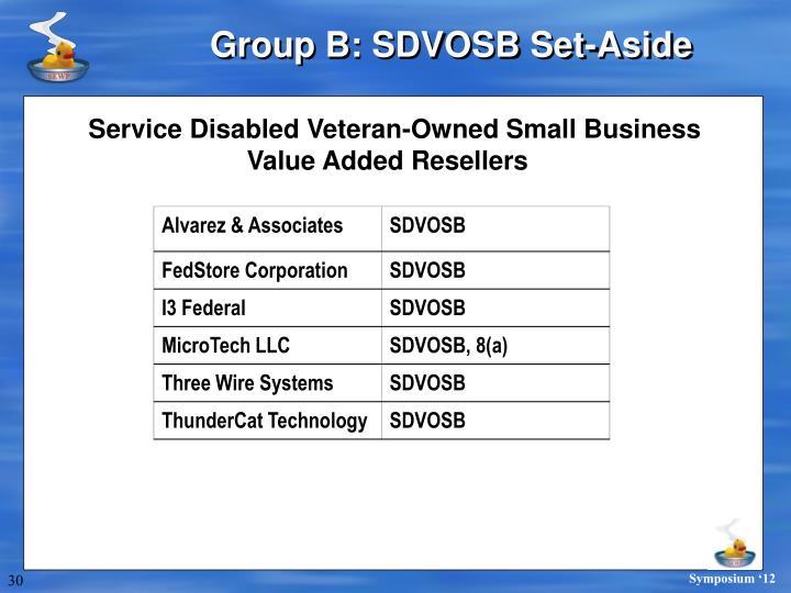 Group B: SDVOSB Set-Aside