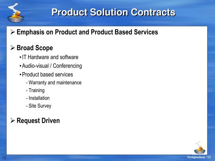 Product Solution Contracts