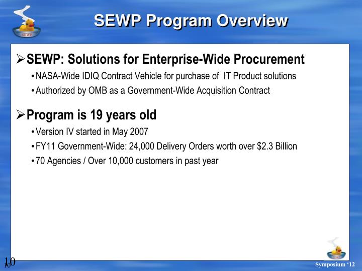 SEWP Program Overview