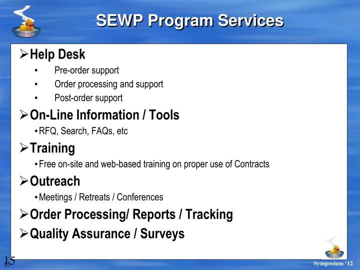 SEWP Program Services