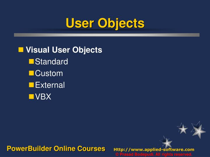 User objects1