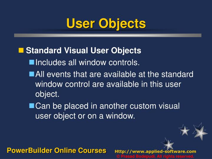 User objects2