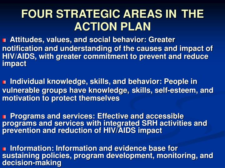 FOUR STRATEGIC AREAS IN