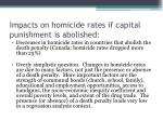 impacts on homicide rates if capital punishment is abolished