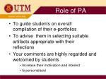 role of pa