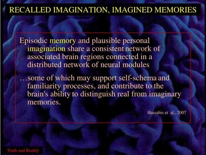 RECALLED IMAGINATION, IMAGINED MEMORIES
