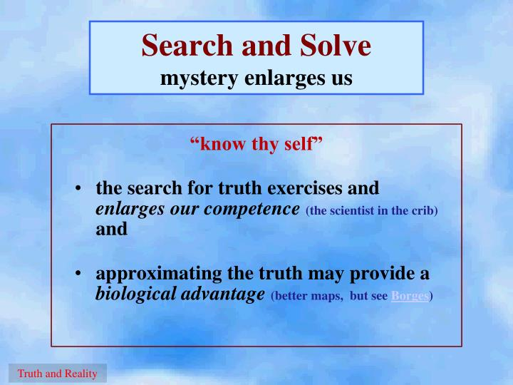 Search and Solve