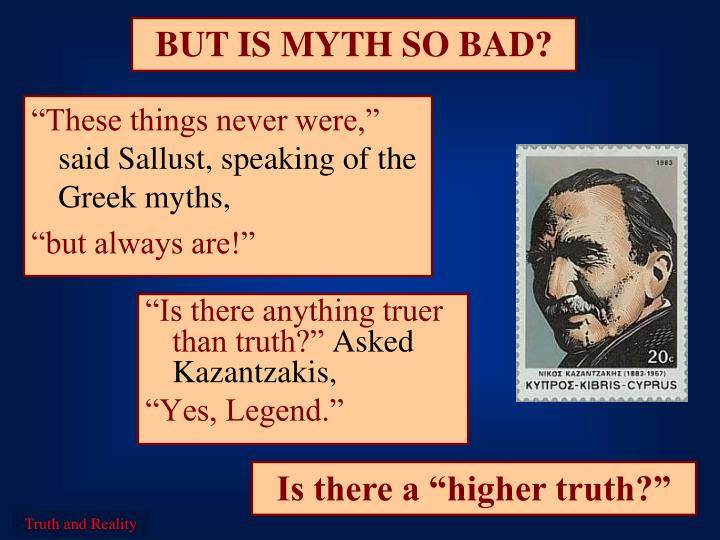 BUT IS MYTH SO BAD?