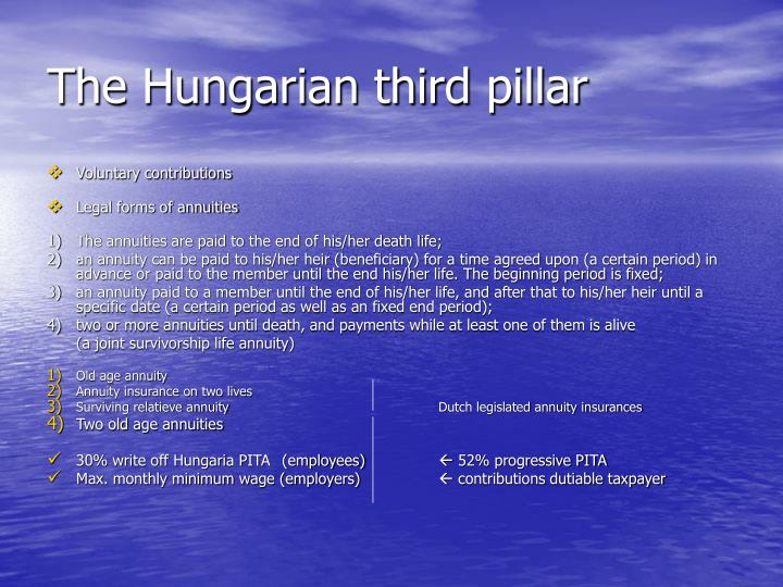 The Hungarian third pillar