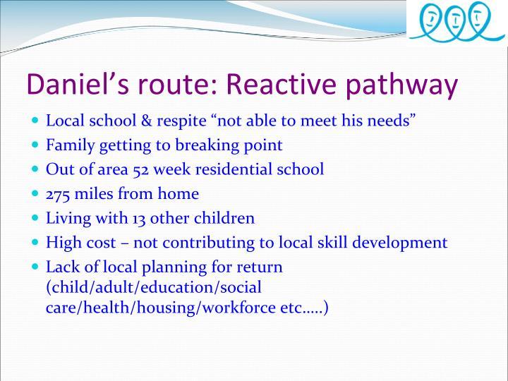 Daniel's route: Reactive pathway