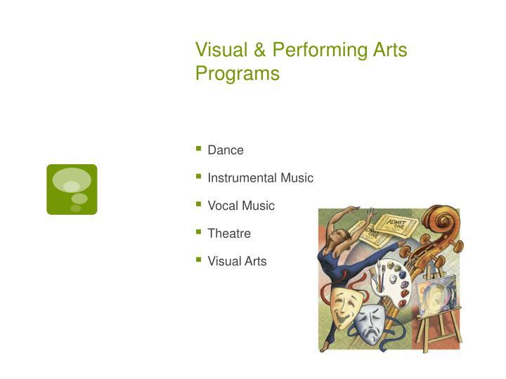 Visual & Performing Arts Programs