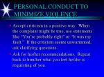 personal conduct to minimize violence3