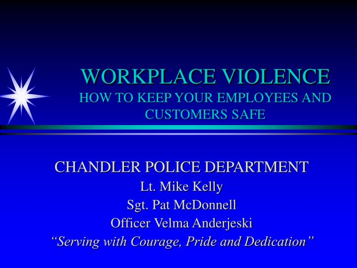 workplace violence how to keep your employees and customers safe n.