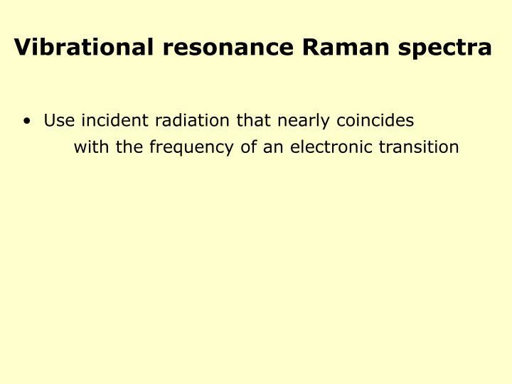 Vibrational resonance Raman spectra