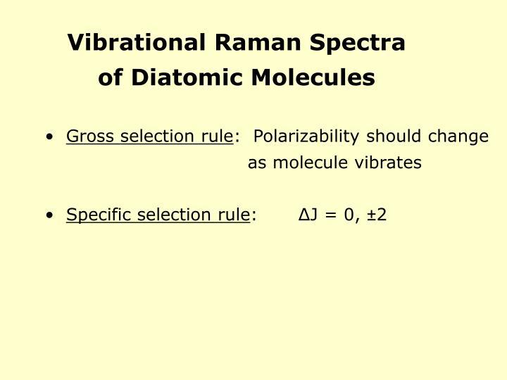 Vibrational Raman Spectra