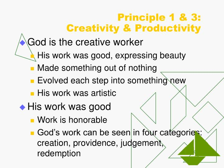Principle 1 & 3: