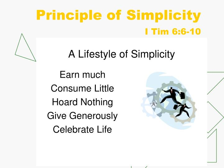 Principle of Simplicity
