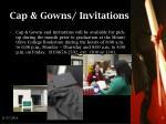 cap gowns invitations