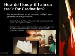 how do i know if i am on track for graduation